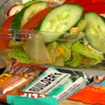 healthy fleet challenge, granola bar and salad